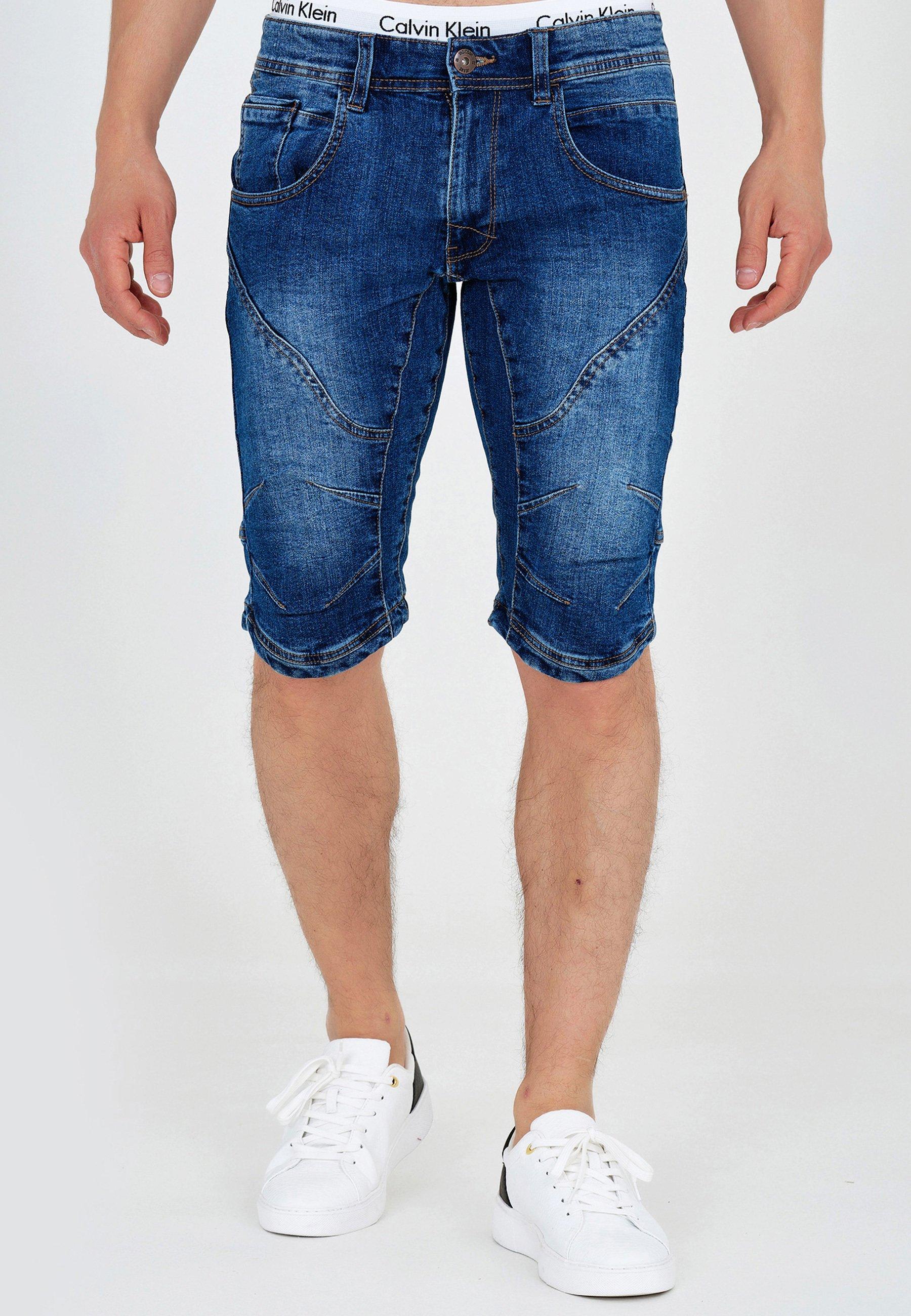 Homme LEON - Short en jean