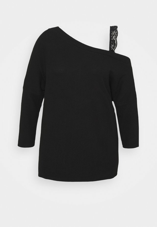 PLUS SIZE LACE - Sweater - black