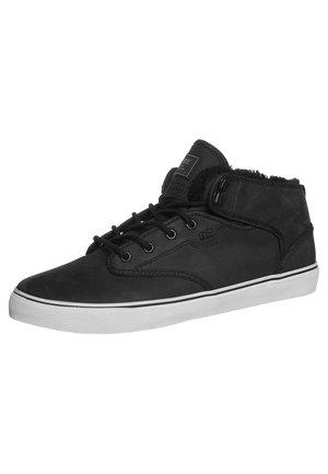 MOTLEY MID - Skateboardové boty - black fur