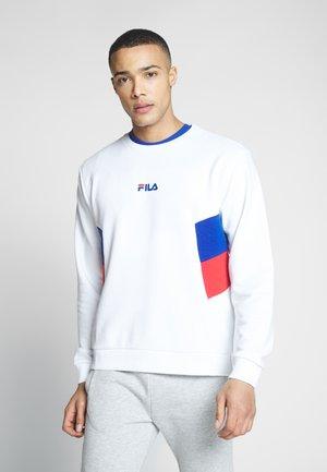 BAKER - Sweatshirt - bright white/surf the web/true red