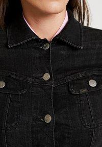Lee - SLIM RIDER - Denim jacket - black orrick - 4