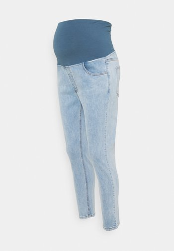 MATERNITY CROPPED - Jeans Skinny Fit - flynn blue