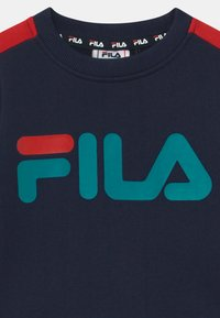 Fila - ALESSIO LOGO CREW - Bluza - black iris/true red - 2