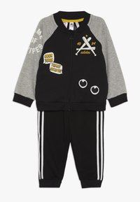 adidas Performance - COLLEGIATE TRACKSUIT BABY SET - Survêtement - black/medium greyh/white - 0