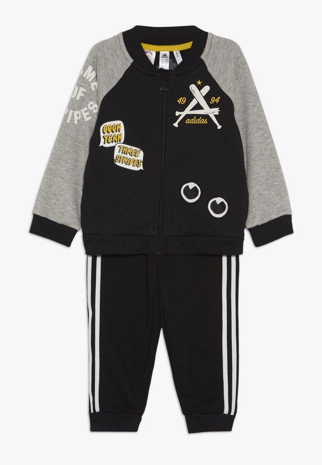 COLLEGIATE TRACKSUIT BABY SET - Tuta - black/medium greyh/white