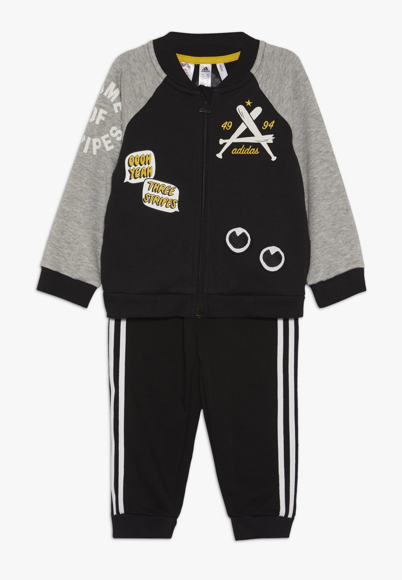 adidas Performance - COLLEGIATE TRACKSUIT BABY SET - Survêtement - black/medium greyh/white