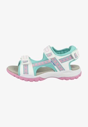 BOREALIS GIRL - Walking sandals - white-aqua
