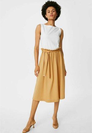 Jersey dress - white / gold