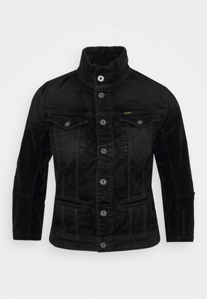 UTILITY SLIM JACKET WMN - Denim jacket - black iced flock
