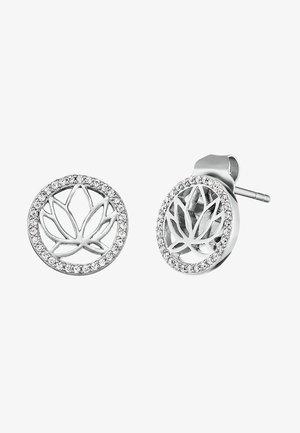 LOTUS - Earrings - silver-coloured