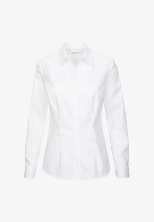 SCHWARZE ROSE - Button-down blouse - weiss