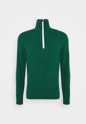 STRUCTURED ZIP - Stickad tröja - rural green