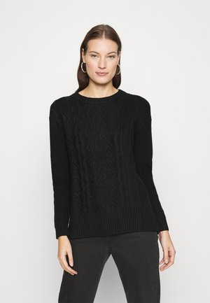 BLOCKED CABLE CREW - Jumper - black