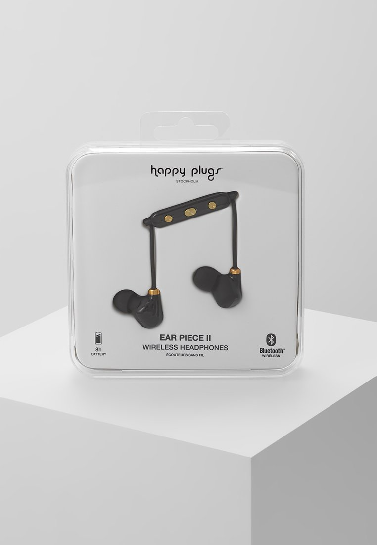 Happy Plugs - EAR PIECE II - Headphones - black/gold-coloured
