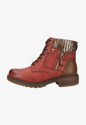 Platform ankle boots - rouge