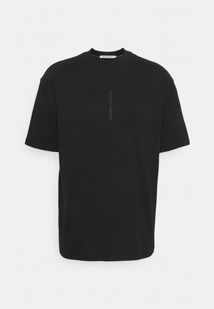 OVERSIZED TONAL LOGO TEE - T-shirt con stampa - black