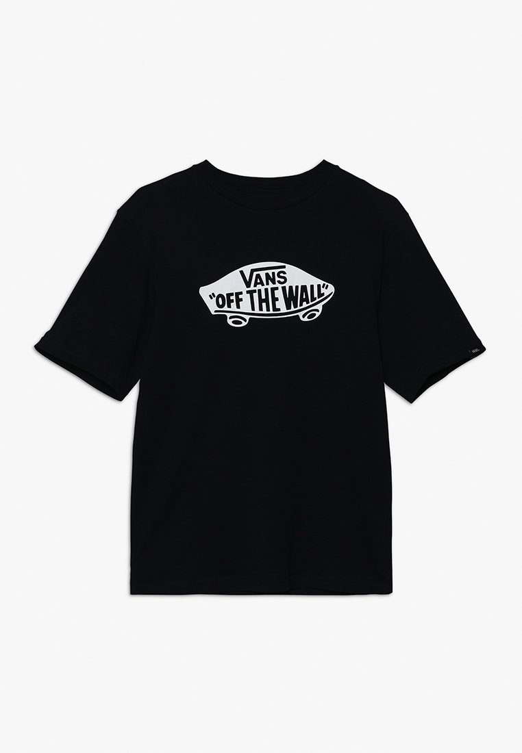 Vans - BOYS - T-shirt z nadrukiem - black/white