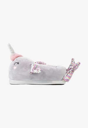 NARWHALE HOUSE SLIPPERS - Slippers - grey