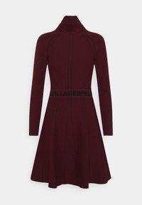 KARL LAGERFELD - CONTRAST DRESS - Jumper dress - tawny port - 0