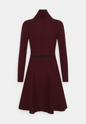 CONTRAST DRESS - Robe pull - tawny port