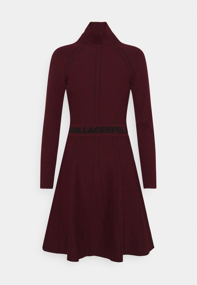 KARL LAGERFELD - CONTRAST DRESS - Jumper dress - tawny port