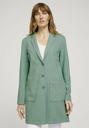 Short coat - soft leaf green melange