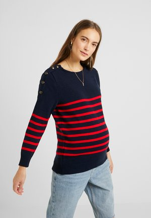 GASPARD - Pullover - navy blue red