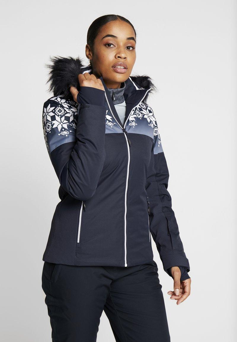 CMP - WOMAN JACKET FIX HOOD - Kurtka narciarska - black blue