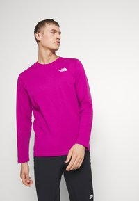 The North Face - MENS BOX TEE - T-shirt à manches longues - wild aster purple - 0