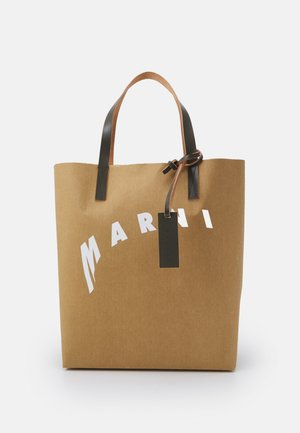 SHOPPING BAG - Tote bag - cement/natural white/thyme