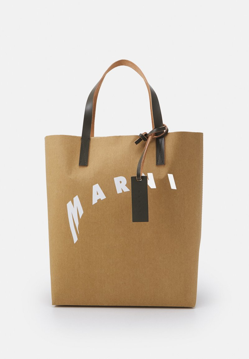Marni - SHOPPING BAG - Velká kabelka - cement/natural white/thyme
