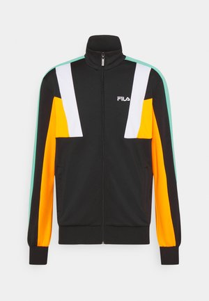 AJAX TRACK JACKET - Veste de survêtement - black/flame orange/bright white/biscay green