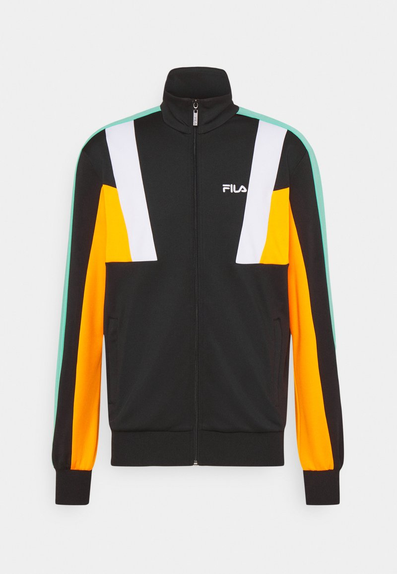 Fila - AJAX TRACK JACKET - Träningsjacka - black/flame orange/bright white/biscay green