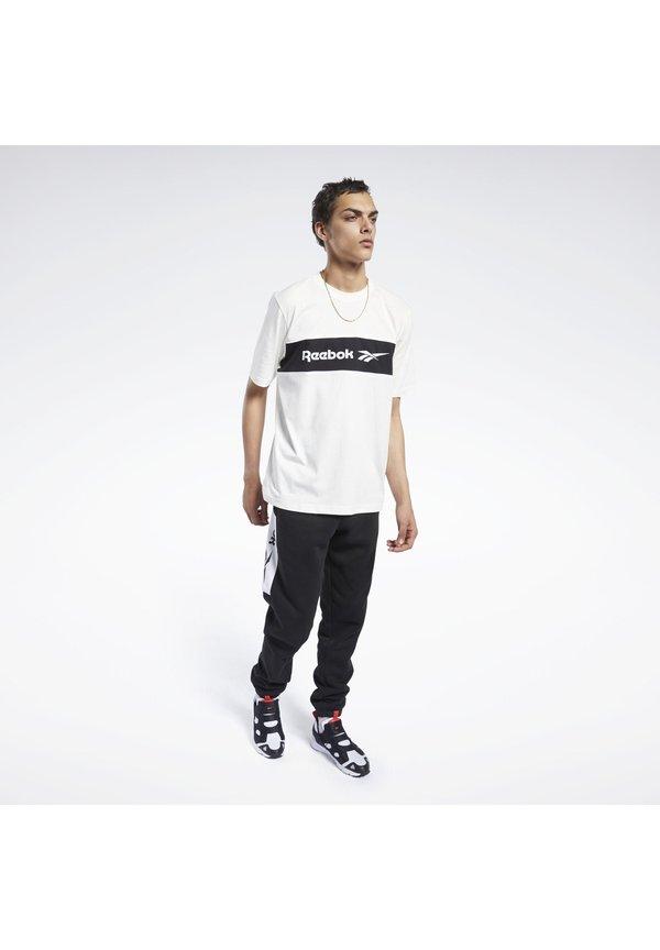 Reebok Classic CLASSICS LINEAR TEE - T-shirt z nadrukiem - white/mleczny Odzież Męska SSJV