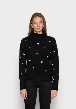 OLIVIANA - Sweter - black/cream white