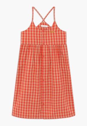 TINY VICHY - Shirt dress - red/light pink