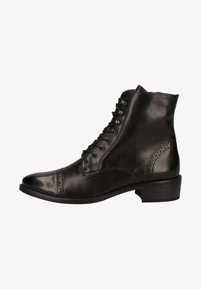 Lace-up ankle boots - schwarz 007