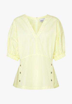 POPLIN TOP  SIDE STUDS - Bluser - pale yellow