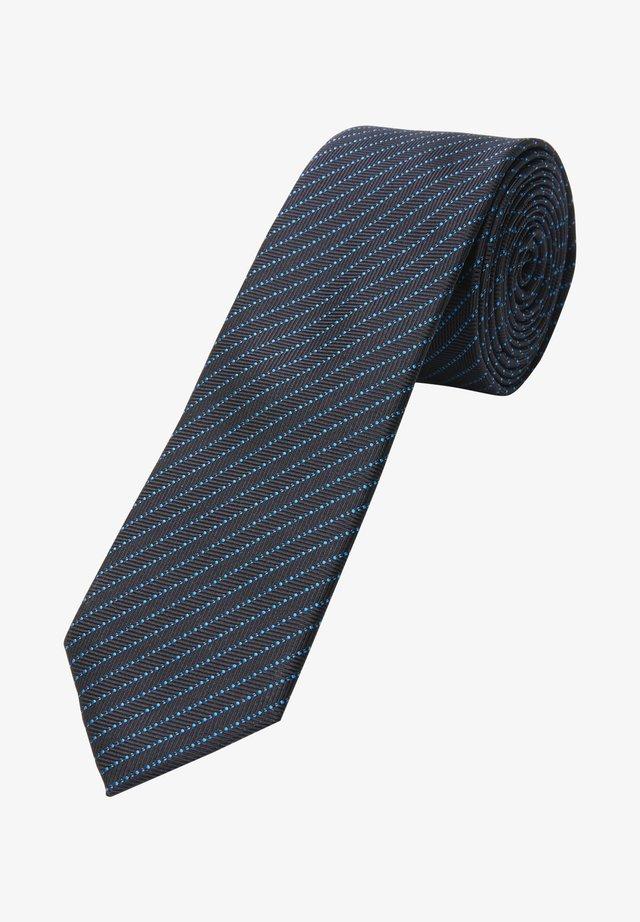 Bow tie - dark blue jacquard