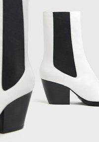 Bershka - Ankle boots - white - 5