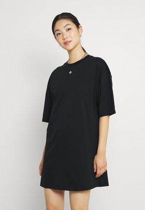OVERSIZED TEE DRESS - Vestido ligero - black