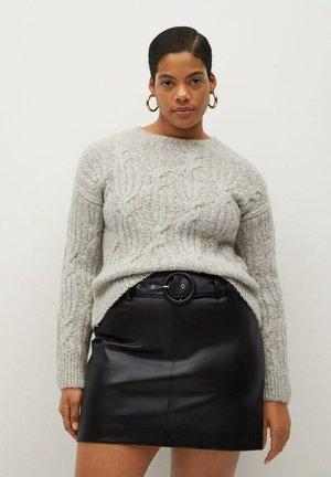 PARTY - A-line skirt - schwarz