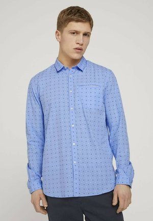 GEMUSTERTES - Shirt - light blue dot clipper