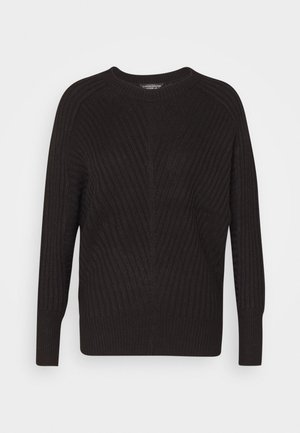 BATWING CREW NECK - Jumper - black