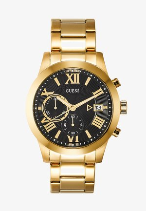 DRESS - Chronograph watch - gold-coloured/black
