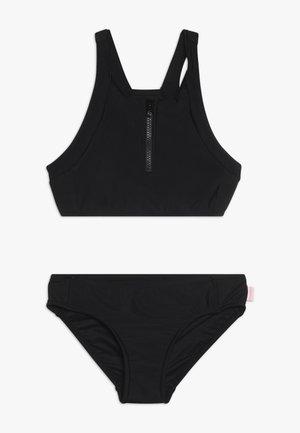 ZIP FRONT TANKINI - Bikini - black