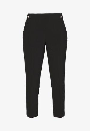 SCALLOP POCKET PANT - Trousers - black