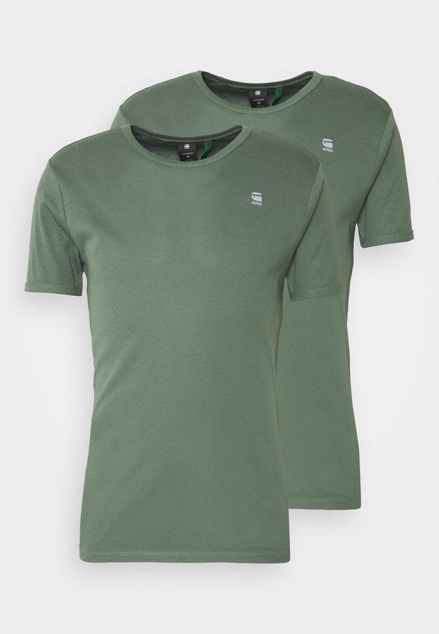 BASE 2 PACK - Basic T-shirt - teal grey