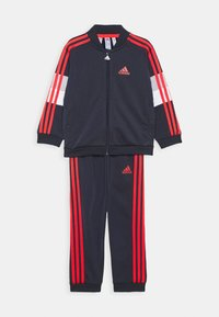 adidas Performance - FAVOURITES TRAINING SPORTS TRACKSUIT BABY SET - Survêtement - dark blue/red - 0