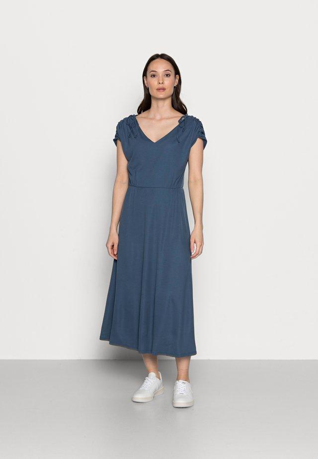 Długa sukienka - grey blue